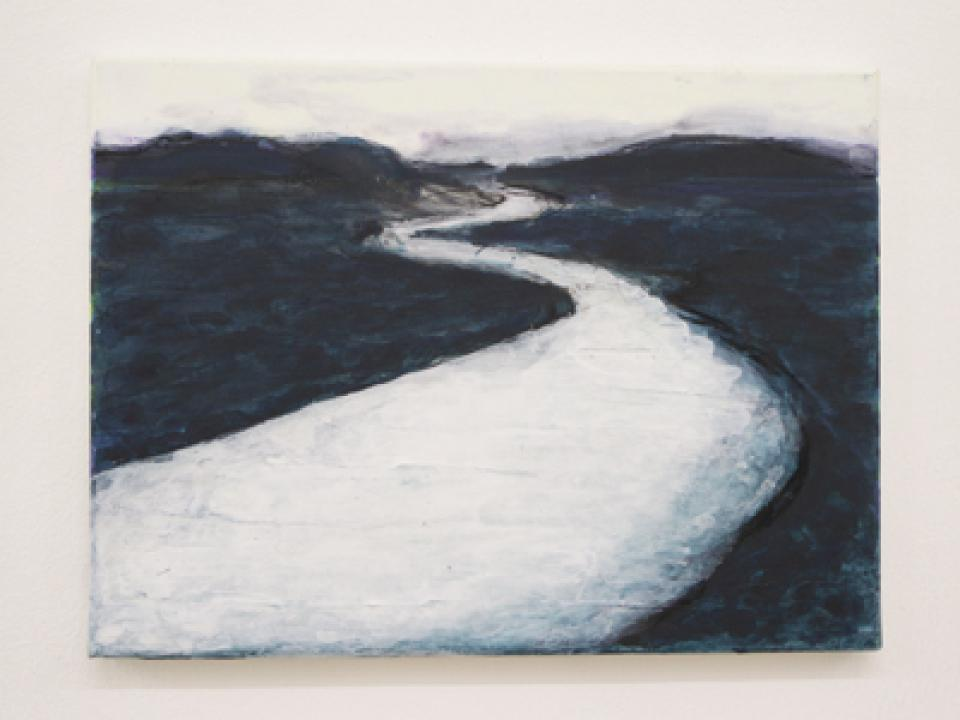 Landschaft/Malerei Weißer Fluss, 2011,acrylic on canvas,30 x 40 cm